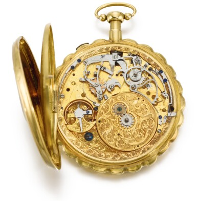 View 3. Thumbnail of Lot 25. SWISS | A GOLD AND ENAMEL QUARTER REPEATING MUSICAL AUTOMATON WATCH FOR THE CHINESE MARKET  CIRCA 1800.