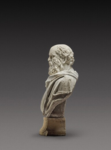 View 5. Thumbnail of Lot 121. Italian, 17th century | Monumental Bust of a Philosopher.