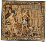 A French classical tapestry, 'Portia', from the series illustrious women of Antiquity, Aubusson, second half 17th century, after Isaac Moillon
