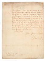 CHARLES II | letter signed, to the Marquis de Lede, 25 March 1657