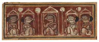 View 1. Thumbnail of Lot 1805. JAMINI ROY | UNTITLED (FIVE WOMEN).
