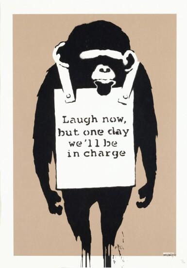 BANKSY   LAUGH NOW
