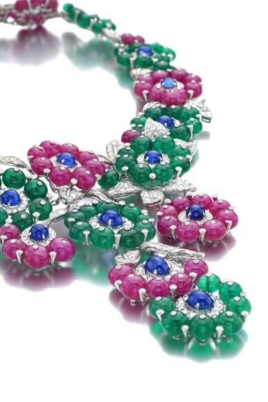 View 2. Thumbnail of Lot 653. Michele della Valle   Gem set and diamond necklace   Michele della Valle   寶石配鑽石項鏈.