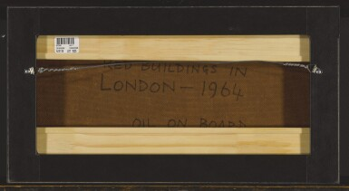 View 3. Thumbnail of Lot 1826. FRANCIS NEWTON SOUZA | RED BUILDINGS IN LONDON.