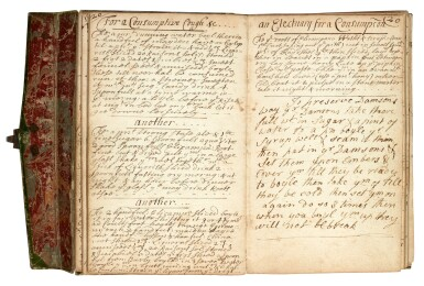 View 4. Thumbnail of Lot 47. MEDICINE   Manuscript medical and culinary recipe book, 17th centuy.