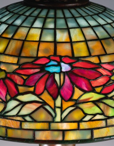 "View 2. Thumbnail of Lot 11. ""Poinsettia"" Table Lamp."