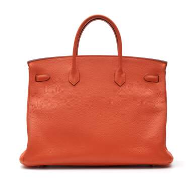 View 4. Thumbnail of Lot 313. Feu Birkin 40cm in Taurillion Clemence Leather with Palladium Hardware, 2014.