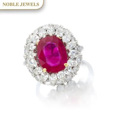 View 1. Thumbnail of Lot 663. Ruby and diamond ring | 紅寶石配鑽石戒指.