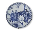 A VERY LARGE BLUE AND WHITE CHARGER | QING DYNASTY, KANGXI PERIOD