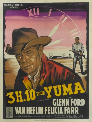 3:10 TO YUMA/3H.10 POUR YUMA (1957) POSTER, FRENCH