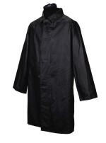 GEORGE HARRISON | Black JelTek raincoat, three-quarter length