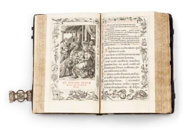 View 5. Thumbnail of Lot 40.  Horae beatissimae... Anvers, 1570.Reliure brodée de la Renaissance aux armes du duc d'Anjou..