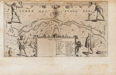 View 3. Thumbnail of Lot 198. [Grands voyages]. Frankfurt, Johann Wechel, 1590-1625.12 parties en 4 volumes in-folio. Vélin ancien..