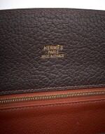 Brown and orange leather whitebus tote, Hermès, 2002