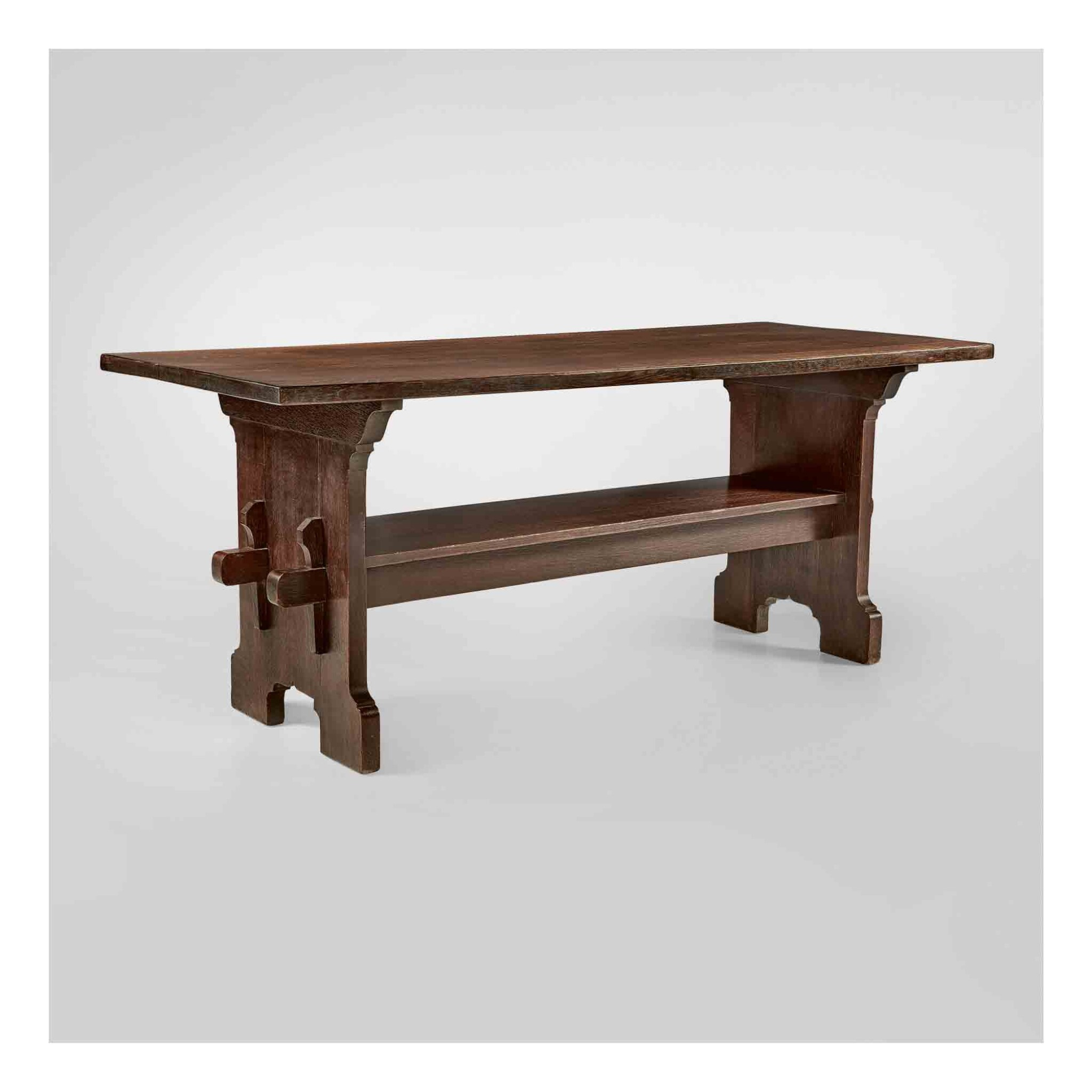 View 1 of Lot 322. Bungalow Trestle Table, Model No. 445.