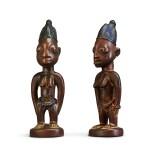Nigeria, Yoruba Peoples, circa 1900   Ere Ibeji Figures
