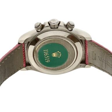 View 5. Thumbnail of Lot 7. Reference 116519 'Daytona Beach'  A white gold automatic chronograph wristwatch, Circa 2000 .