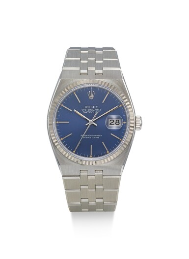 DATE JUST OYSTER QUARTZ, REFERENCE 17014, A STAINLESS STEEL BRACELET WATCH WITH DATE, CIRCA 1986