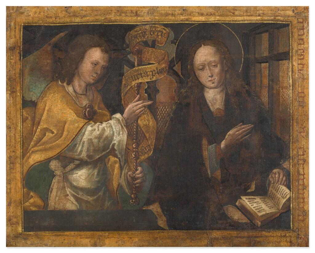 NETHERLANDISH SCHOOL, CIRCA 1500 | THE ANNUNCIATION