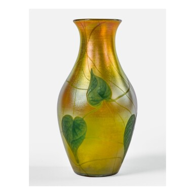 "TIFFANY STUDIOS | ""LEAF AND VINE"" CARVED CAMEO VASE"