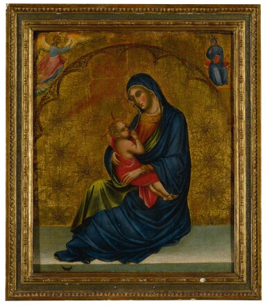 View 2. Thumbnail of Lot 503. Madonna of Humility with the Annunciation .