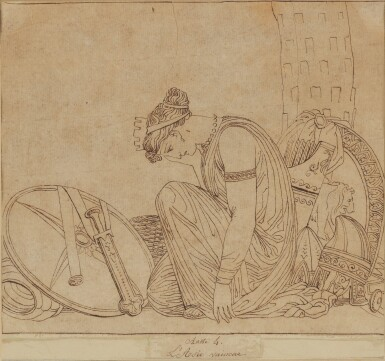 View 3. Thumbnail of Lot 38. JOHN FLAXMAN | THREE SCENES FROM LES EUMENIDES: ACTS I, 2 AND 4.