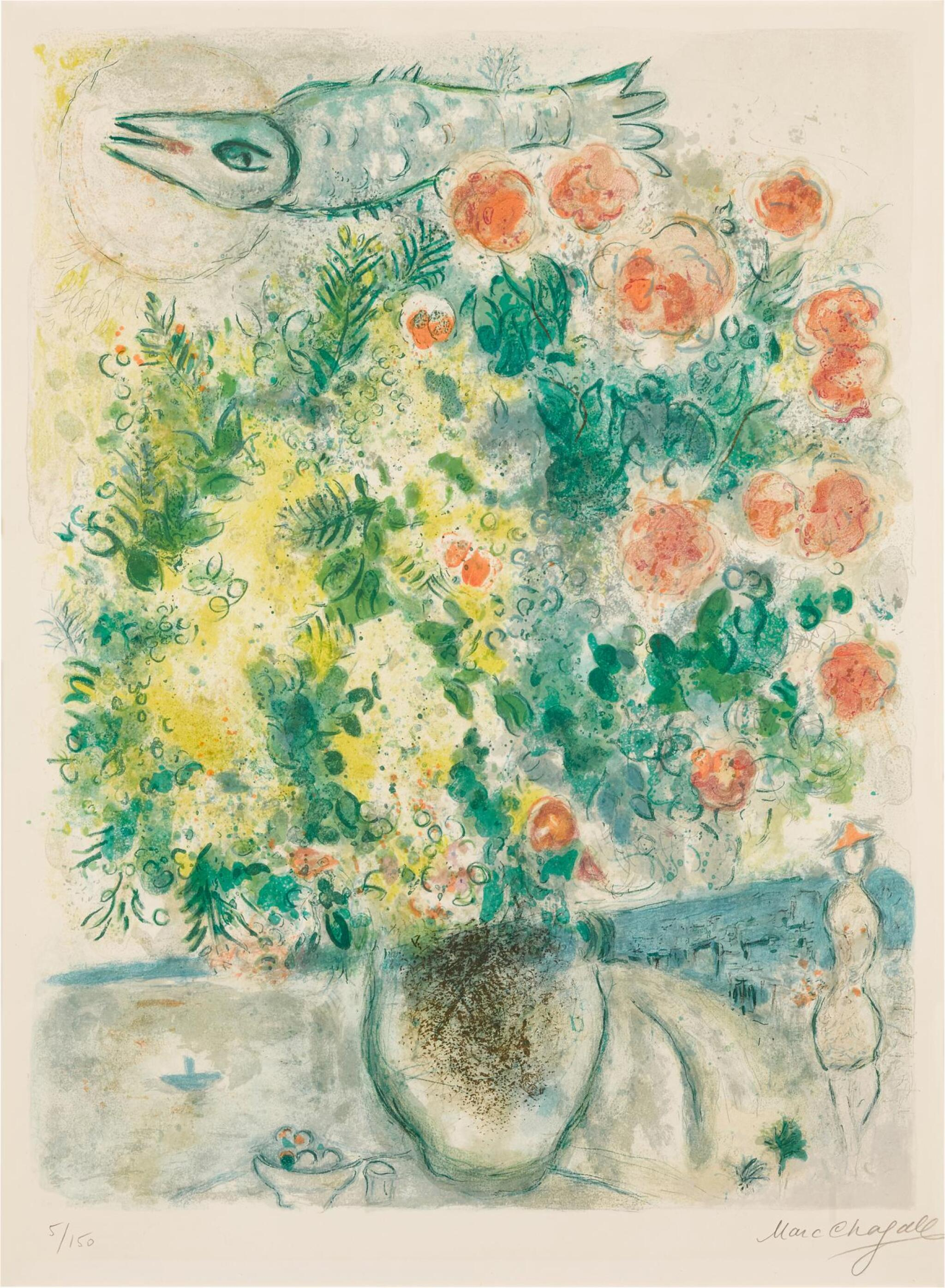 View full screen - View 1 of Lot 14. AFTER MARC CHAGALL | ROSES ET MIMOSAS (M. CS. 29).