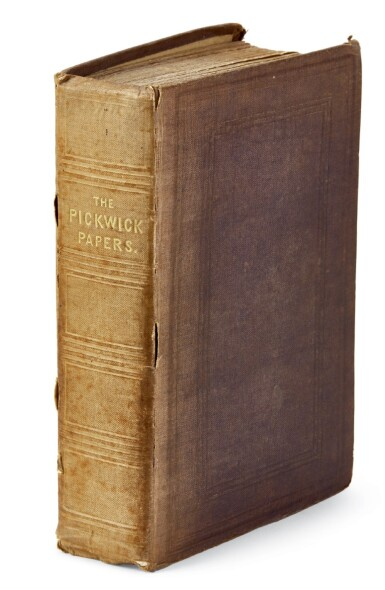 Dickens, The Posthumous Papers of the Pickwick Club, 1837, first book edition, previously owned by Dickens' lawyer