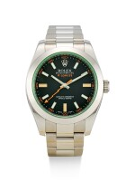 ROLEX | MILGAUSS, REFERENCE 116400GV, A STAINLESS STEEL WRISTWATCH WITH BRACELET, CIRCA 2014