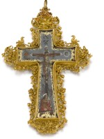 SPANISH, FIRST HALF 18TH CENTURY | Cross Pendant with the Crucifixion and the Virgin of the Immaculate Conception