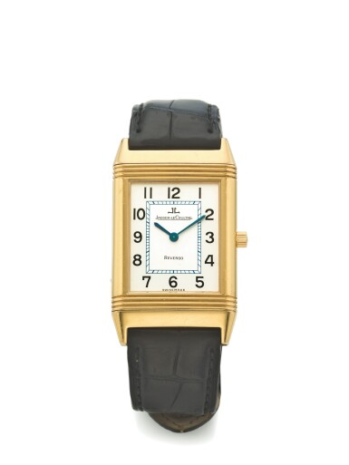 JAEGER-LECOULTRE | REF 250.1.08 REVERSO, A YELLOW GOLD RECTANGULAR REVERSIBLE WRISTWATCH CIRCA 2001