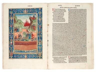 View 2. Thumbnail of Lot 183. Dante, La Commedia, Brescia, 1487, hand-coloured, disbound.