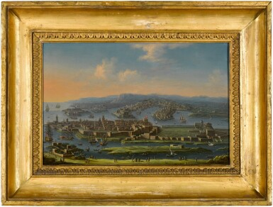 View 3. Thumbnail of Lot 30. TOMMASO RUIZ  |  A PANORAMIC VIEW OF VALLETTA ON THE ISLAND OF MALTA.