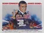 NEVER SAY NEVER AGAIN (1983) POSTER, BRITISH