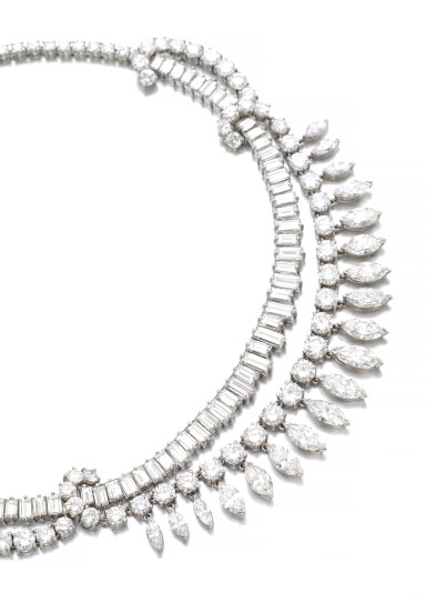 View 2. Thumbnail of Lot 63. DIAMOND NECKLACE, 1950S.