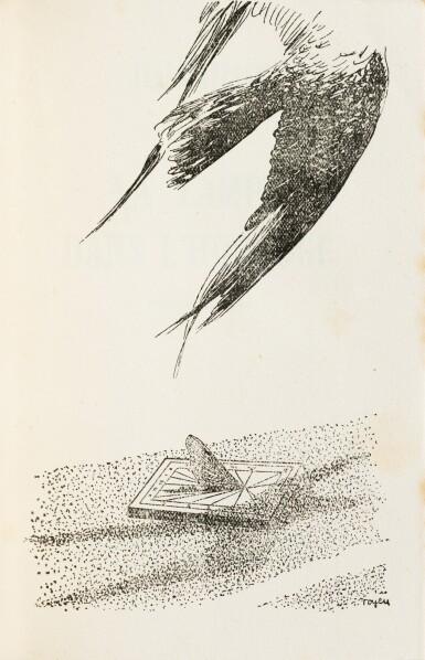 View 3. Thumbnail of Lot 226. La Lampe dans l'horloge. 1948. Ed originale. Envoi à Julien Gracq. Reliure de Fié.