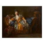 PORTRAIT OF A WOMAN ON A DIVAN