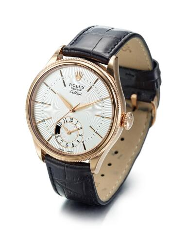 View 2. Thumbnail of Lot 8059. ROLEX | CELLINI DUAL TIME, REFERENCE 50525,  A PINK GOLD DUAL TIME ZONE WRISTWATCH WITH DAY AND NIGHT INDICATION, CIRCA 2014.