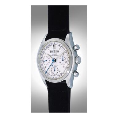 View 4. Thumbnail of Lot 1069. ROLEX   REF 6036, A STAINLESS STEEL TRIPLE CALENDAR CHRONOGRAPH WRISTWATCH, CIRCA 1952   勞力士  6036型號精鋼全日曆計時腕錶,年份約1952.