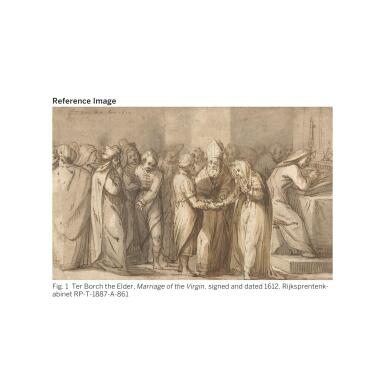View 2. Thumbnail of Lot 25. GERARD TER BORCH THE ELDER   THE MARRIAGE OF THE VIRGIN.