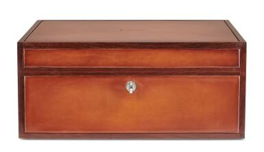 View 2. Thumbnail of Lot 3. Berluti   Cigar Box, Cigar Case, Club Chairs and Cyrus Slippers (Boîte à Cigares, Étui à Cigares, Fauteuils Club et Slipper Cyrus ) [5 Items / Articles].