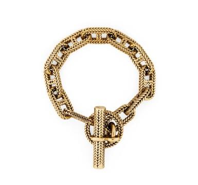 "View 2. Thumbnail of Lot 120. Bracelet or, ""Chaîne d'ancre"" | Gold bracelet, 'Chaîne d'ancre'."