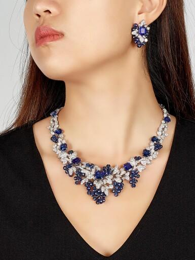 View 4. Thumbnail of Lot 1649. GRAFF | SAPPHIRE AND DIAMOND NECKLACE格拉夫 | 藍寶石 配 鑽石 項鏈  (藍寶石及鑽石共重約142.06及33.96卡拉 ).