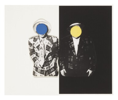 JOHN BALDESSARI | BLUE BOY (WITH YELLOW BOY): ONE WITH HAWAIIAN TIE AND ONE IN DARK (HUROWITZ 51)