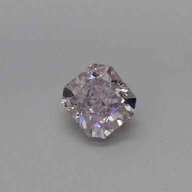 A 0.80 Carat Fancy Brownish Purplish Pink Cut-Cornered Rectangular Modified Brilliant-Cut Diamond, SI2 Clarity