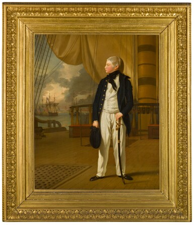 View 2. Thumbnail of Lot 48. Portrait of Prince William, later King William IV of Great Britain (1765–1837), when a midshipman, in naval uniform standing on the deck of HMS Prince George | 《身穿海軍服、站在威爾斯親王號戰艦上、時為見習船員的威廉王子肖像,後為英王威廉四世(1765–1837年)》.