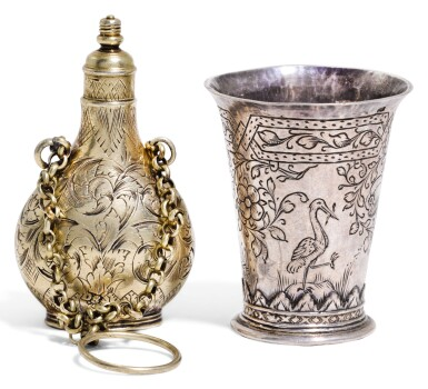 A DUTCH MINIATURE SILVER BEAKER, BARTHOLT NICKELS, DEVENTER, CIRCA 1680