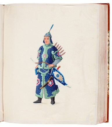 View 1. Thumbnail of Lot 166. China, Canton School | A superb album of 141 watercolours, c.1800.
