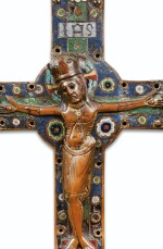 FRENCH, LIMOGES, 13TH CENTURY | A CHAMPLEVÉ ENAMEL CRUCIFIX