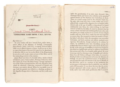 View 3. Thumbnail of Lot 113. Ian Fleming | You Only Live Twice, uncorrected proof for Playboy, with related correspondence, 1963-64.